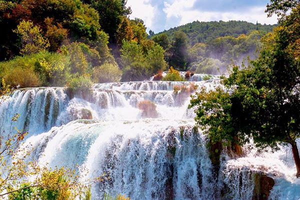 Visit the Krka waterfalls